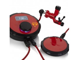 Combo máy xăm Sabre DCX - Signal Red