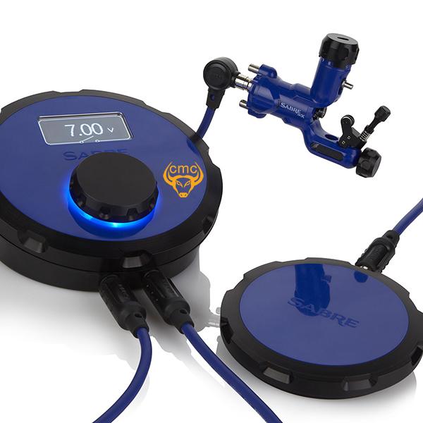 Combo máy xăm Sabre DCX - Cobalt Blue