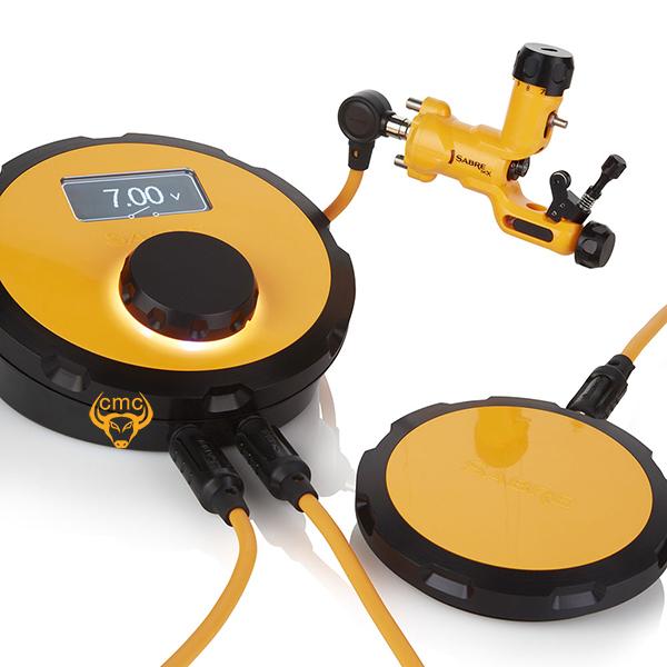 Combo máy xăm Sabre DCX - Lava Orange