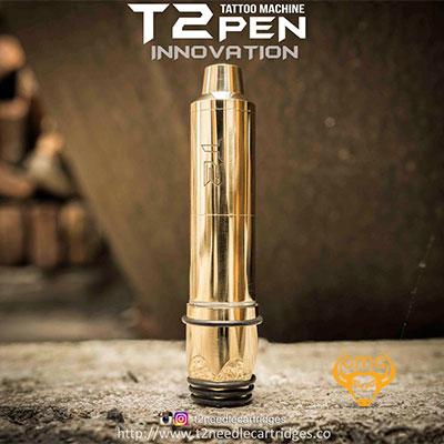 Máy xăm súng T2 Brass Gold